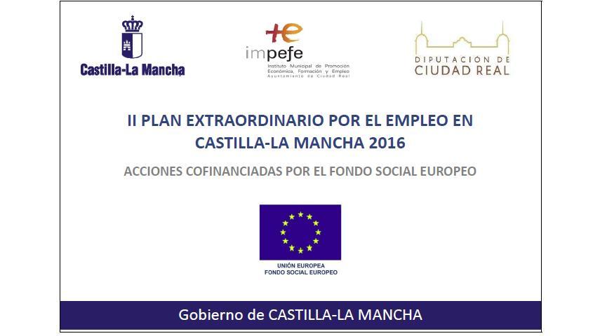 Publicado el listado provisional de personas seleccionadas, reserva y excluidas en el marco del II Plan Extraordinario por el Empleo en Castilla-La Mancha 2016.