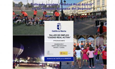 """El taller de empleo """"Ciudad Real Activa"""" colabora con la Semana Europea del Deporte"""