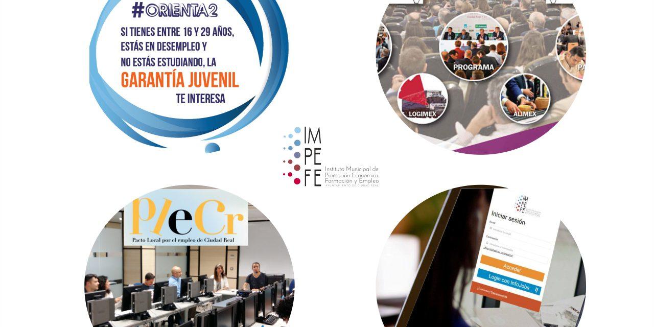 """Actualidad del IMPEFE: Proyecto #ORIENTA2, Feria IMEX CLM, renovación del """"Pacto Local por el Empleo de Ciudad Real"""" y ofertas de empleo"""