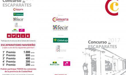 La Cámara de Comercio y Fecir, con el patrocinio del IMPEFE, convocan el Concurso de Escaparates Navideños con 2.500 euros en premios