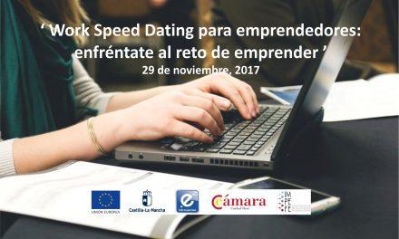 """La Cámara de Comercio y el CEEI organizan el próximo 29 de noviembre la jornada """"Work Speed Dating"""" para emprendedores/as"""