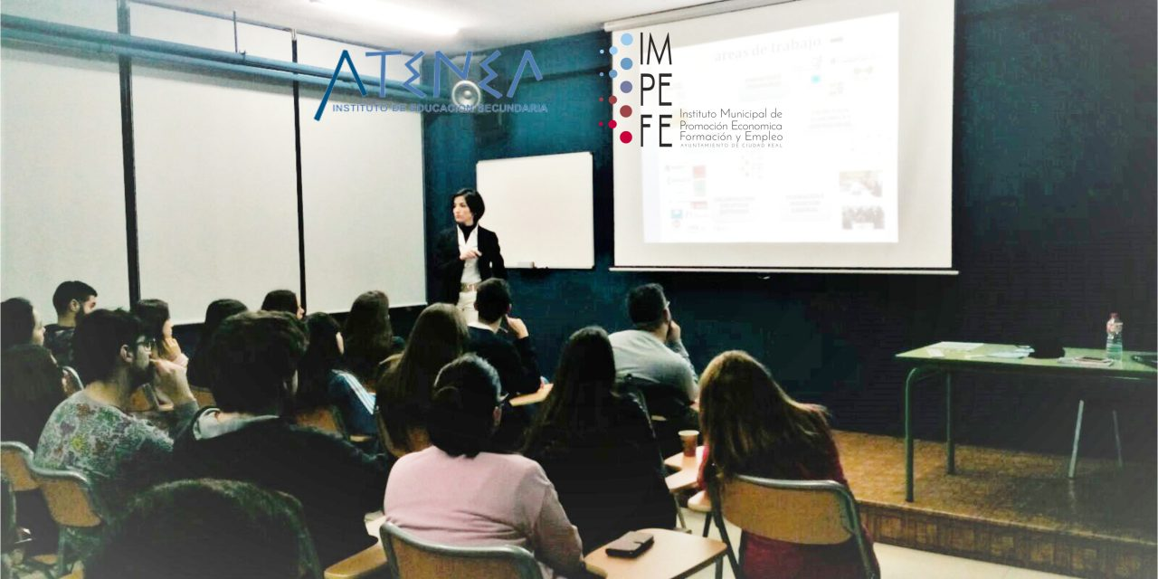 El IMPEFE presenta sus proyectos de formación y empleo en el Instituto Atenea de Ciudad Real