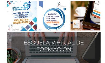 """Actualidad del IMPEFE: Programas """"Garantía Ciudad Real"""" y """"#Orienta2"""", nuevos cursos en la Escuela Virtual y Ofertas de empleo"""