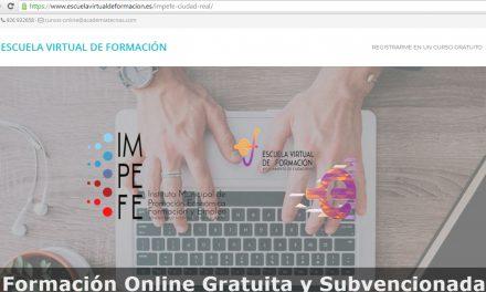 La Escuela Virtual de Formación del IMPEFE renueva y amplia sus contenidos