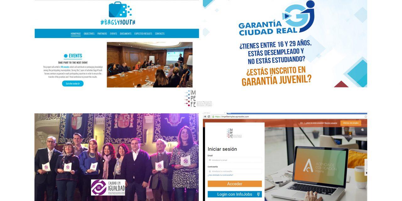 """Actualidad IMPEFE: Ciudad Real acogerá esta semana el proyecto """"Bags4Youth"""", """"Garantía Ciudad Real"""" (cofinanciado por el Fondo social Europeo) busca formadores, entrega de los """"Distintivos de Igualdad"""" y nuevas ofertas de empleo"""