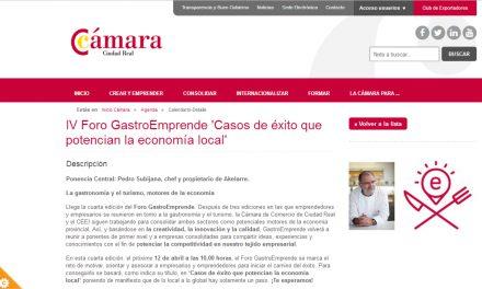 Abierto el plazo de inscripción para la IV Edición de GASTROEMPRENDE en la que participará Pedro Subijana
