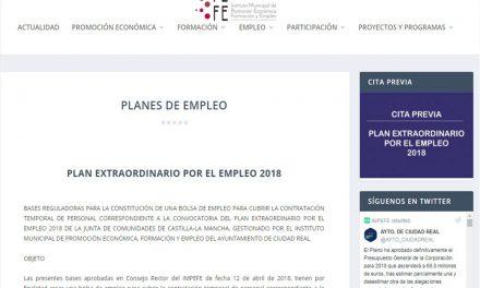 Publicadas las bases de la bolsa de empleo para el Plan Extraordinario por el Empleo 2018