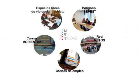 """Actualidad IMPEFE: Cursos gratuitos de #ORIENTA2, el proyecto """"Espacios libres de violencia machista"""", reunión de la Red RETOS, desbloqueo del Polígono SEPES y ofertas de empleo"""