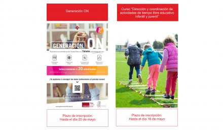 """Actualidad IMPEFE: Últimos días para participar en """"Generación ON"""" o en el curso """"Dirección y coordinación de actividades de tiempo libre educativo infantil y juvenil"""""""