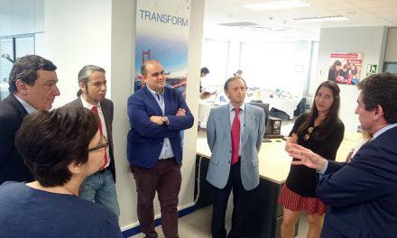 Nicolás Clavero y Jose Luis Herrera visitan Italtel en el aniversario de su implantación en Ciudad Real