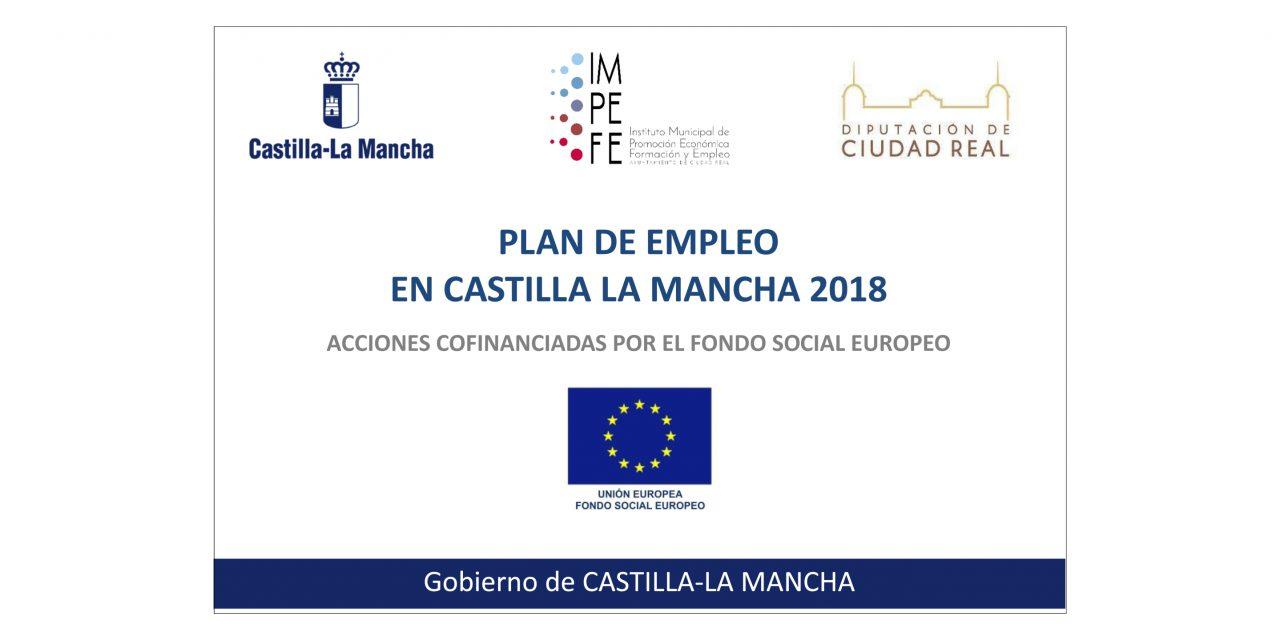 Listados de personal seleccionado, reserva y excluidos del Plan de Empleo 2018 en Castilla-La Mancha