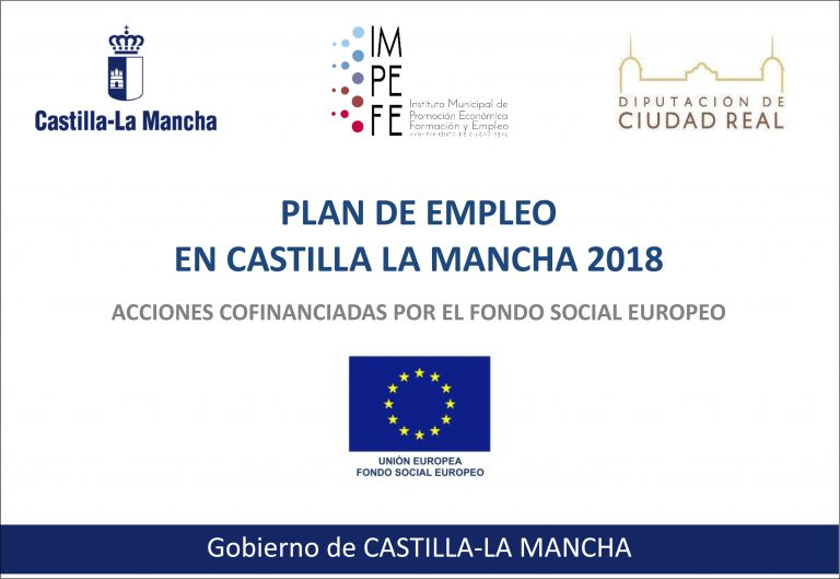 NOTA INFORMATIVA SOBRE EL PLAN DE EMPLEO EN CASTILLA-LA MANCHA 2018