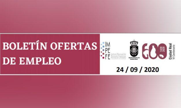 BOLETÍN OFERTAS DE EMPLEO 24/09/2020