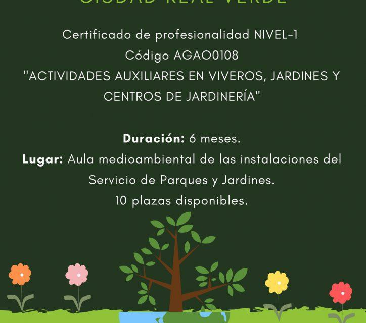 PUBLICADO LOS LISTADOS DEFINITIVOS DE ADMITIDOS/EXCLUIDOS Y PROVISIONAL A LA BAREMACIÓN DEL TALLER CIUDAD REAL VERDE
