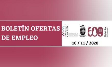 BOLETÍN OFERTAS DE EMPLEO 10/11/2020