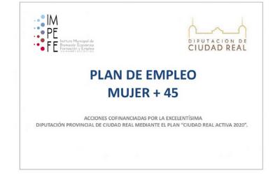 """Publicado el listado definitivo de las personas seleccionadas para el """"Plan de Empleo Mujer +45"""""""