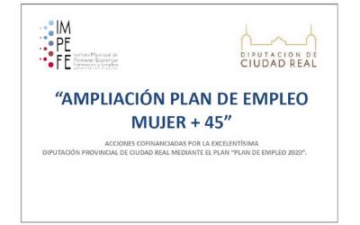 """Listado definitivo de las personas seleccionadas para la """"Ampliación del Plan de Empleo Mujer +45"""""""