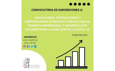 Subvenciones a asociaciones, federaciones y corporaciones de derecho público para el fomento empresarial y desarrollo de acciones para luchar contra la COVID-19