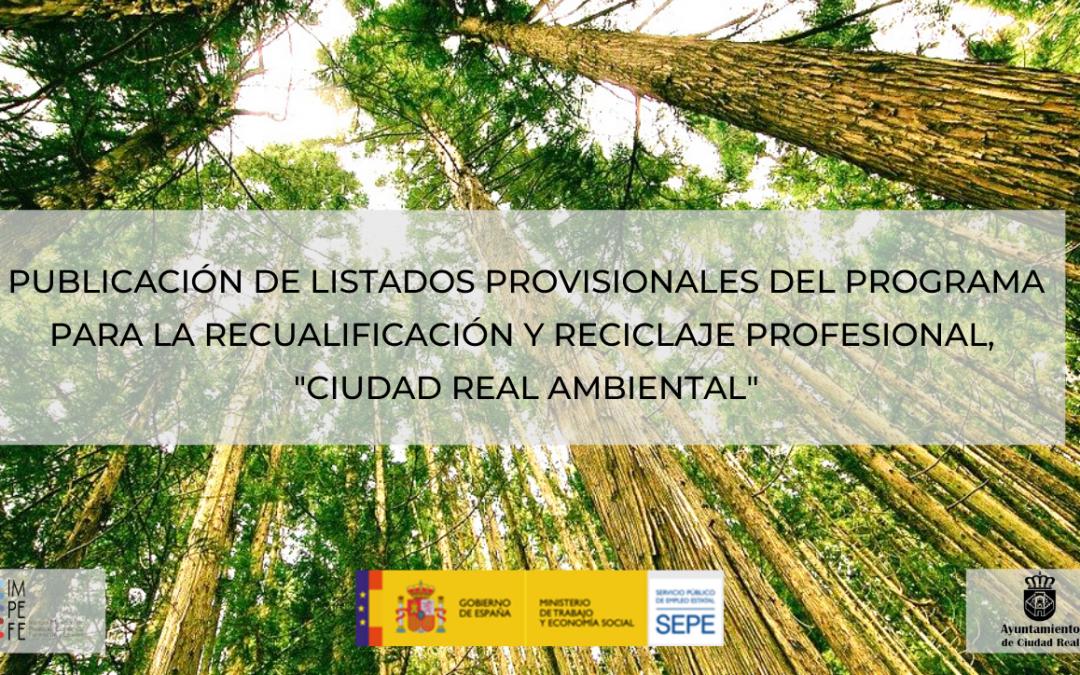 Listados provisionales Ciudad Real Ambiental
