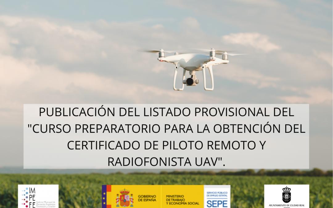Curso para la obtención del certificado piloto remoto de drones y radiofonista UAV