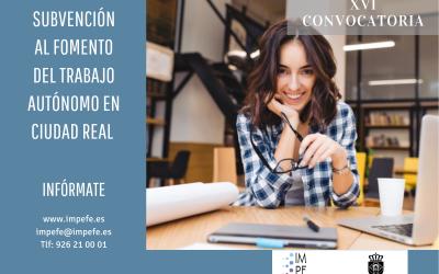 El IMPEFE destina 50.000 euros para ayudas a los trabajadores autónomos de Ciudad Real